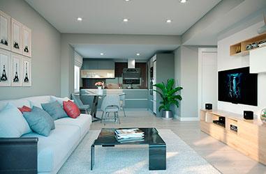 Salón Design - 2 dormitorios